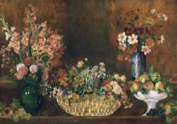 Still Life with Flowers and Fruit | Pierre-Auguste Renoir | oil painting