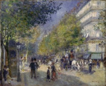 The Grands Boulevards | Pierre-Auguste Renoir | oil painting