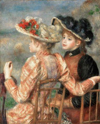 Two Girls | Pierre-Auguste Renoir | oil painting
