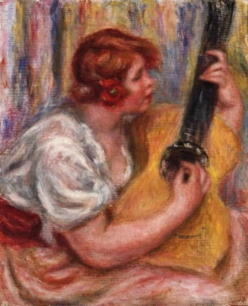 Woman with a Guitar | Pierre-Auguste Renoir | oil painting