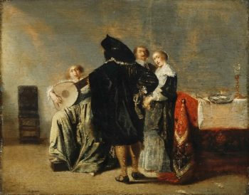 The Lute Player | Pieter Codde | oil painting