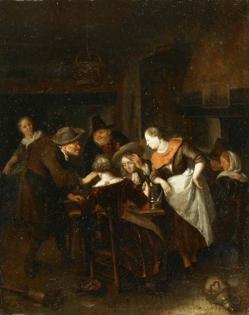 The Dice Players   Richard Brakenburg   oil painting