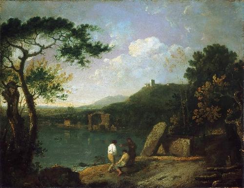 Lake Avernus I | Richard Wilson | oil painting