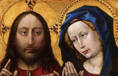 Christ and the Virgin | Robert Campin | oil painting