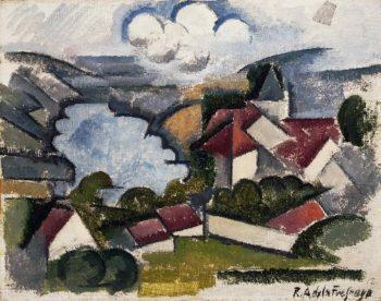Landscape   Roger de La Fresnaye   oil painting