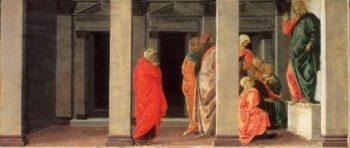 Saint Mary Magdalene Listening to Christ Preach   Sandro Botticelli (Alessandro di Mariano Filipepi)   oil painting
