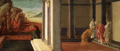 The Last Moments of Saint Mary Magdalene | Sandro Botticelli (Alessandro di Mariano Filipepi) | oil painting