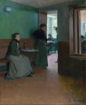 Interior of a Cafe   Santiago Rusinol   oil painting