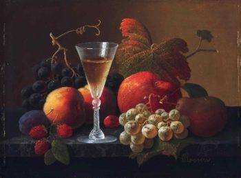 Still Life with Fruit and a Wine Glass | Severin Roesen | oil painting