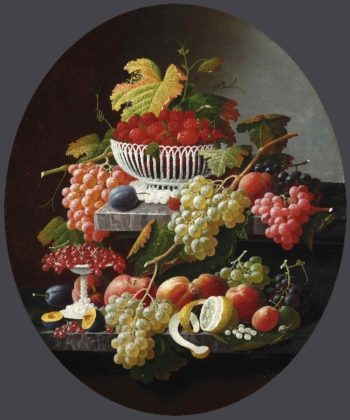 Still Life with Fruit | Severin Roesen | oil painting