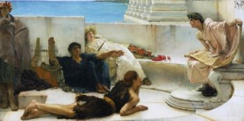 A Reading from Homer | Sir Lawrence Alma-Tadema | oil painting