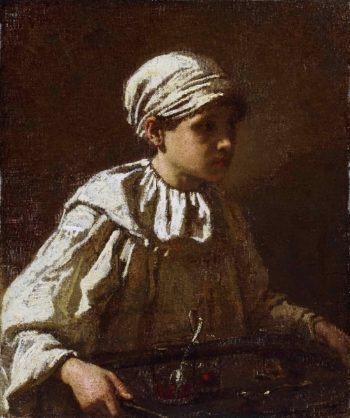 The Little Confectioner   Thomas Couture   oil painting