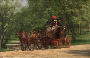 A May Morning in the Park (The Fairman Rogers Four-in-Hand) | Thomas Eakins | oil painting