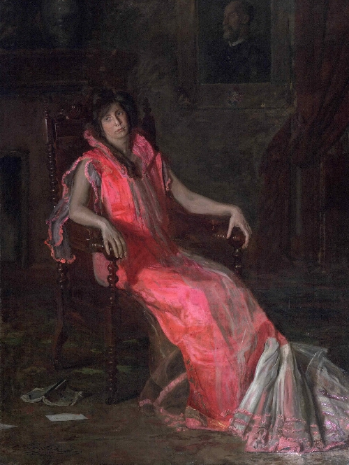 An Actress (Portrait of Suzanne Santje) | Thomas Eakins | oil painting