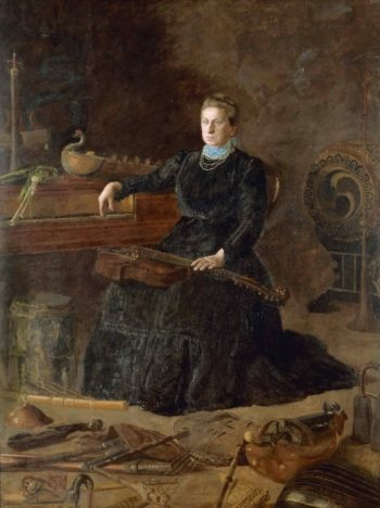 Antiquated Music (Portrait of Sarah Sagehorn Frishmuth) | Thomas Eakins | oil painting