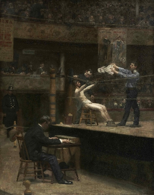 Between Rounds | Thomas Eakins | oil painting