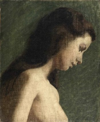 Study of a Young Woman | Thomas Eakins | oil painting