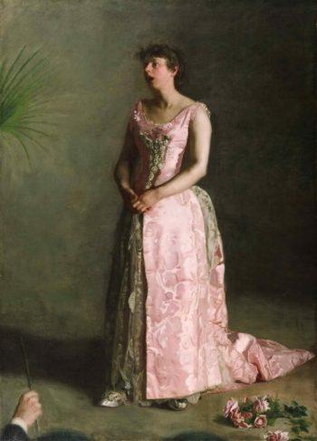 The Concert Singer | Thomas Eakins | oil painting
