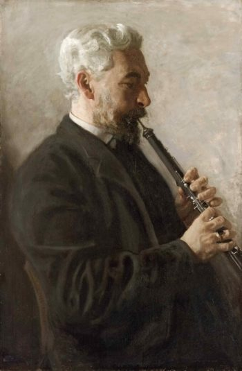 The Oboe Player (Portrait of Dr. Benjamin Sharp) | Thomas Eakins | oil painting