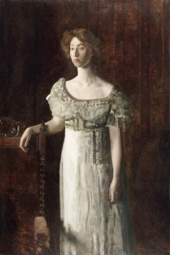 The Old-Fashioned Dress (Portrait of Helen Montanverde Parker) | Thomas Eakins | oil painting