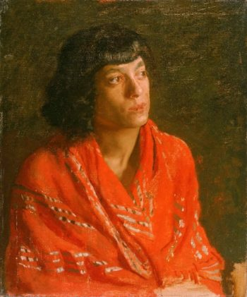 The Red Shawl | Thomas Eakins | oil painting