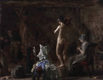William Rush Carving His Allegorical Figure of the Schuylkill River | Thomas Eakins | oil painting