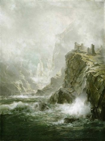 The Wolfs Crag of the Bride of Lammermoor | Unknown Artist | oil painting