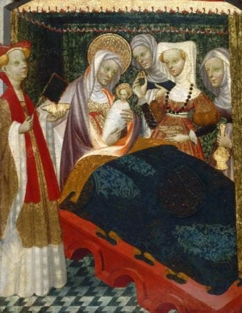 The Birth of the Virgin | Villamediana Master | oil painting