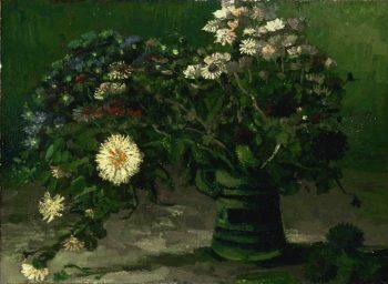 Still Life with a Bouquet of Daisies | Vincent Willem van Gogh | oil painting