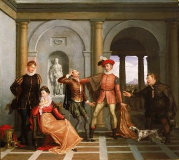 The Taming of the Shrew | Washington Allston | oil painting