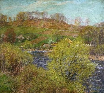 Blossoming Willows | Willard Leroy Metcalf | oil painting