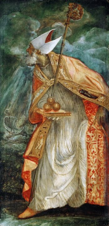 Saint Nicolas of Bari | Jacopo Tintoretto | oil painting