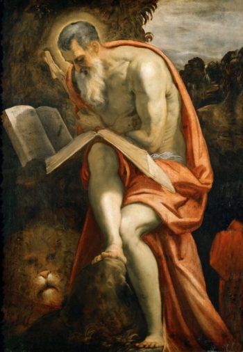 Saint Jerome | Jacopo Tintoretto | oil painting