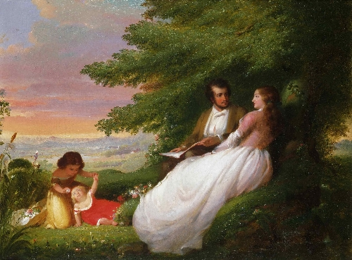 Domestic Felicity   William E Winner   oil painting