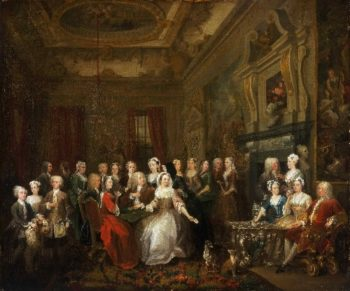 Assembly at Wanstead House | William Hogarth | oil painting