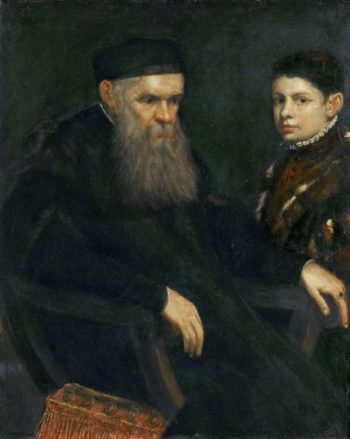 Old Man and a Boy | Jacopo Tintoretto | oil painting