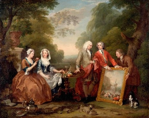 Conversation Piece (Portrait of Sir Andrew Fountaine with Other Men and Women) | William Hogarth | oil painting