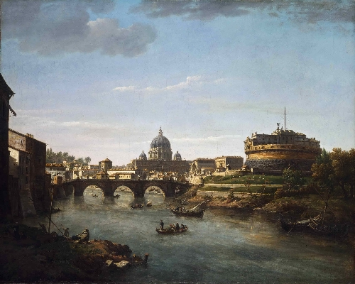 View of Rome from the Tiber | William Marlow | oil painting