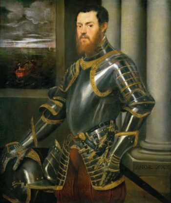Man with Gold-damascened Armor | Jacopo Tintoretto | oil painting