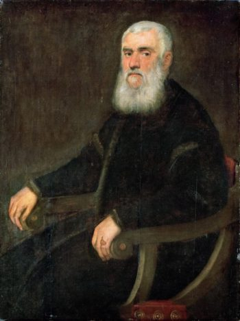 Man with a White Beard in an Armchair | Jacopo Tintoretto | oil painting