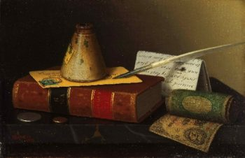 till Life with a Writing Table | William Michael Harnett | oil painting