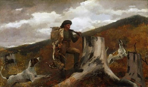 A Huntsman and Dogs | Winslow Homer | oil painting