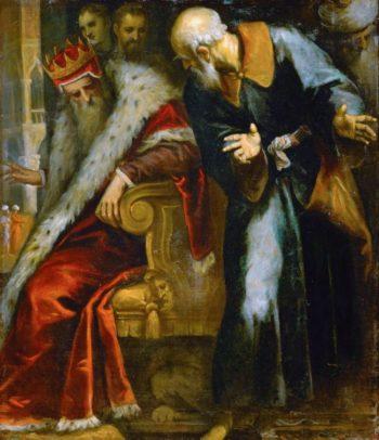 The Prophet Nathan admonishes King David | Jacopo Palma il giovane | oil painting