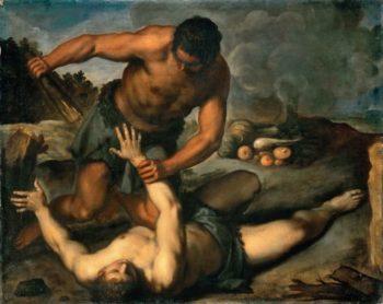 Cain kills his brother | Jacopo Palma il giovane | oil painting