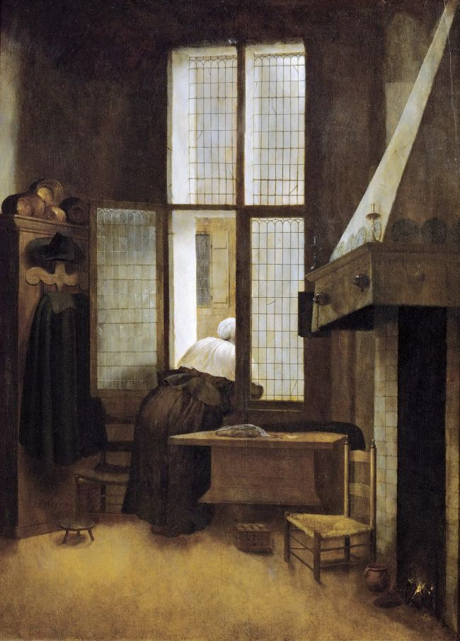 Woman in a Window | Jacobus Vrel | oil painting