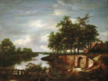 River Landscape with Entrance to a Cellar | Jacob van Ruisdael | oil painting