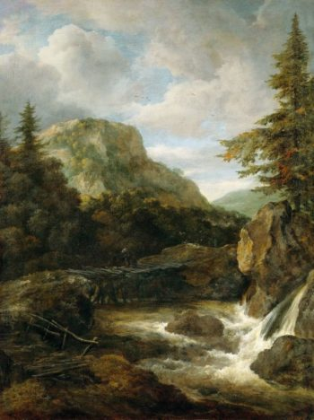 Mountain Landscape with Waterfall | Jacob van Ruisdael | oil painting