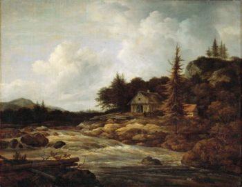 Landscape with a Mountain River | Jacob van Ruisdael | oil painting