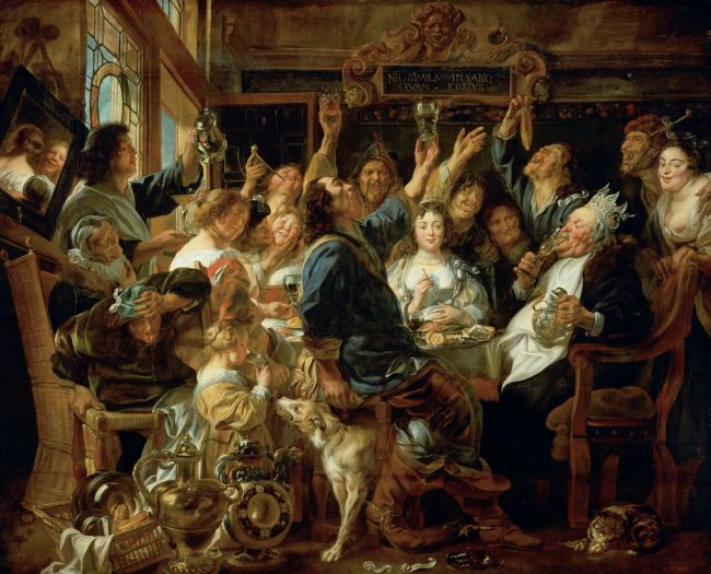 Banquet of the Bean King | Jacob Jordaens the Elder | oil painting