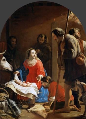 Adoration of the Shepherds with Saint Francis of Assisi | Jacob I van Oost | oil painting